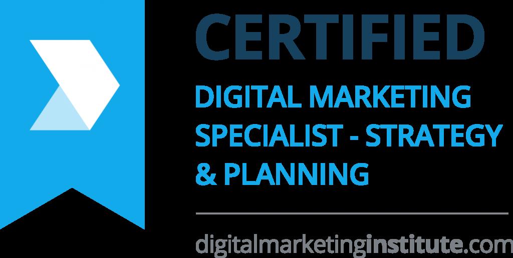 Certified Digital Marketing Specialist - Strategy & Planning